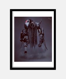 Wraith Male   Cuadro con marco negro vertical 3:4 (15 x 20 cm)