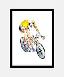 Yellow Jersey Cyclist