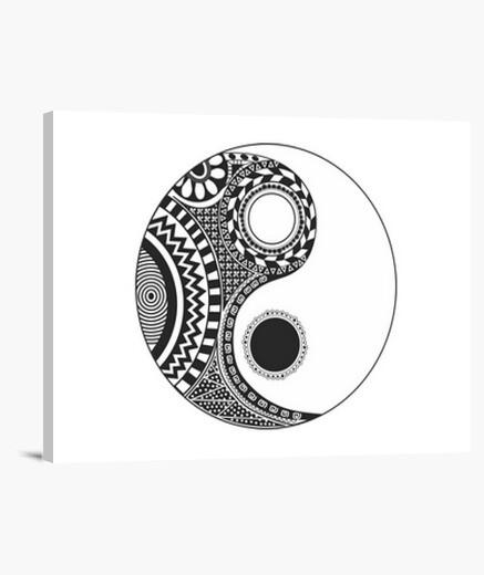 Lienzo yin yang