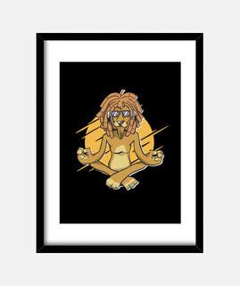 Yoga Relaxed Lion Meditation Rasta Gift