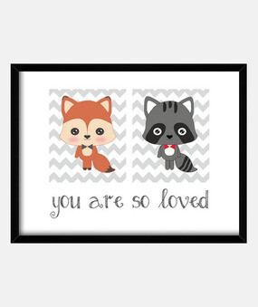you are so loved - frame for room baby