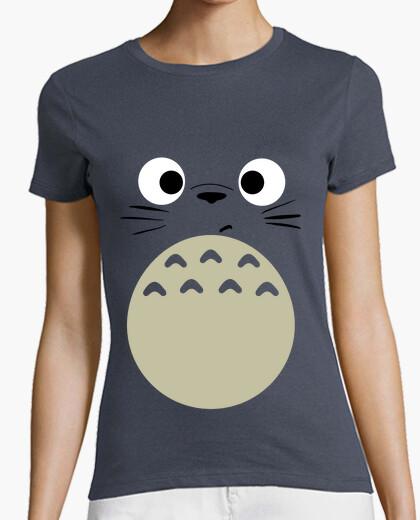 -totoro- girl gray t-shirt