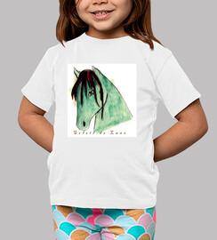 01 caballos camiseta de los niños