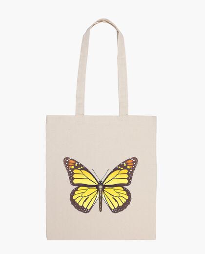 02 Mariposa monarca bolsa tela bag
