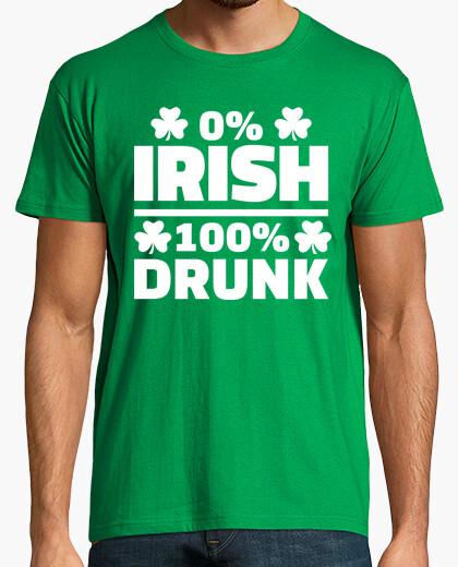 Camiseta 0% irlandés 100% borracho