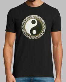 """1- Mandala, """"Yin-yang B/N"""", cuadro realizado por Cova Mandalera."""