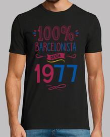 100% barça since 1977, 42 years old