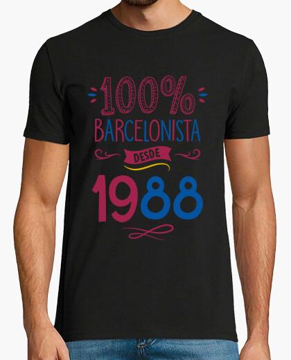 Camiseta 100% Barcelonista Desde 1988 | 30 años