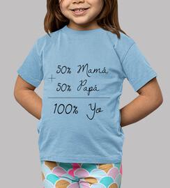 100 i, bambino, a maniche corte, azzurro