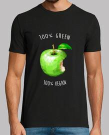100 vert 100 végétalien (lettres blanches)