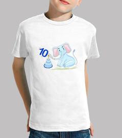 10 años cumpleaños elefante azul