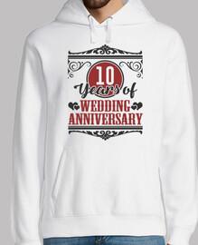 10 años de aniversario de bodas