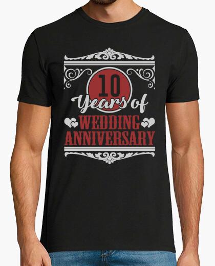 Tee-shirt 10 ans d'anniversaire de mariage