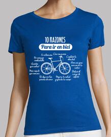 10 motivi per andare in bicicletta (donna)