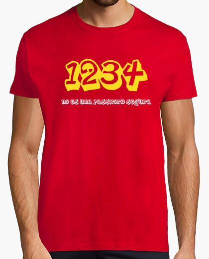 Camiseta 1234 contraseña
