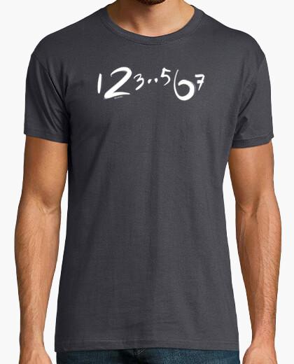 Camiseta 123 567, conteo de baile minimalista