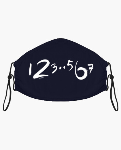 123 567 minimalist dance count mask