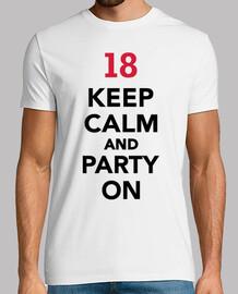18 ° compleanno mantenere la calma e festa