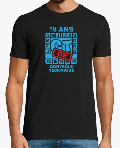 Tee-shirt 18 ans anniversaire controle technique