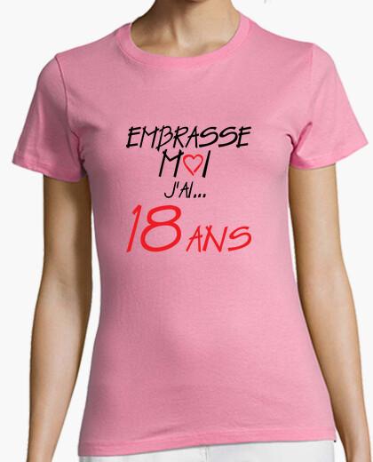 Tee-shirt 18 ans anniversaire embrasse moi