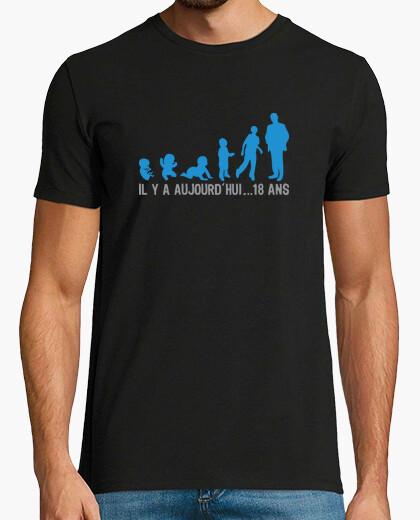 Tee-shirt 18 ans anniversaire il y a ....