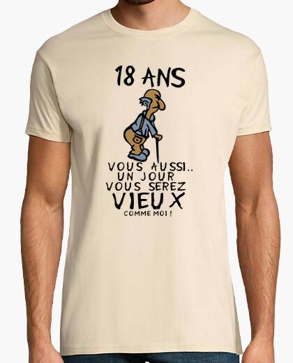 Tee Shirt 18 Ans Anniversaire Vieux Aussi 745425 Tostadora Fr