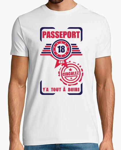T-shirt 18 del passaporto compleanno