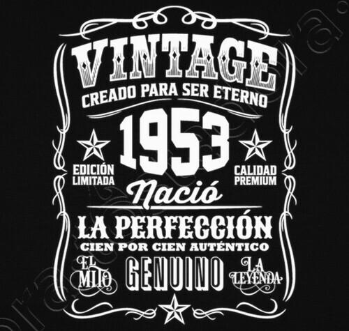 1953 Vintage 66 Geburtstag 66 Jahre T Shirt 1323982 Tostadorade