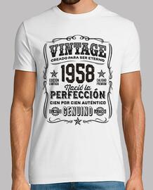 1958 année cadeau 61 légende d'anniversaire