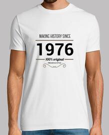 1976 black text making history