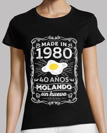 1980 40 anni molando un uovo