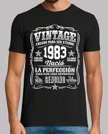 1983 Vintage 37 Cumpleaños 37 Años