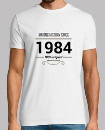 1984 black text making history