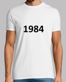 1984, Hombre, manga corta, blanco, calidad extra