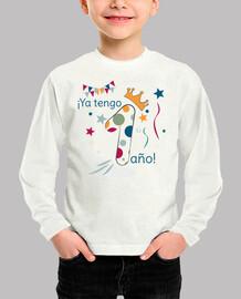 1 año - camiseta infantil para cumpleaños