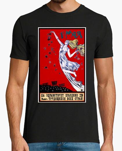 Camiseta 1 de Mayo Día del Trabajo - Cartel ruso