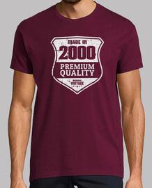 2000, qualité premium, 20 ans