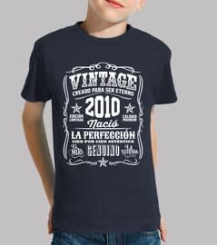 2010 Vintage 9 Cumpleaños 9 Años