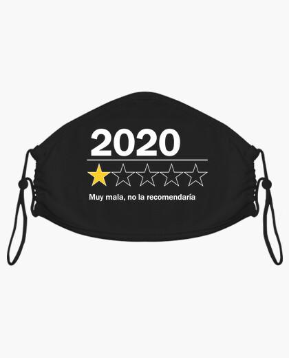 Mascarilla 2020 - Muy mala, no la recomendaría, letras en blanco