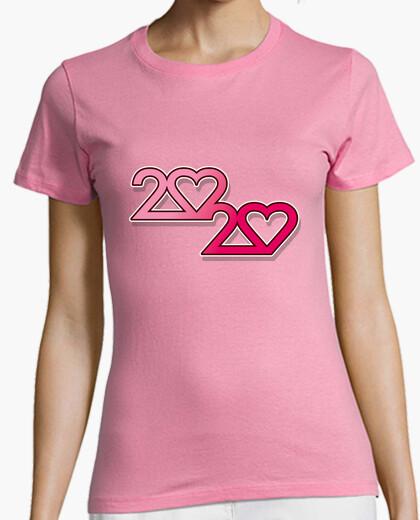 Camiseta 2020 love, Mujer