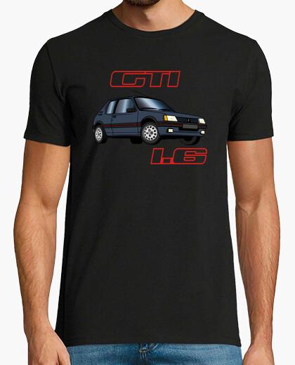 Camiseta 205 1.6 gti gris grafito 87-88-89-90