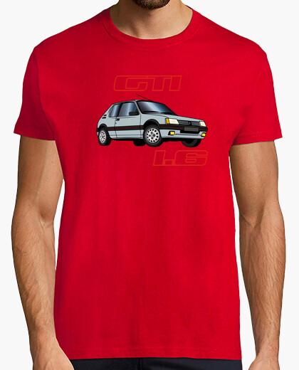 Camiseta 205 gti 1.6 84-85-86 gris futura