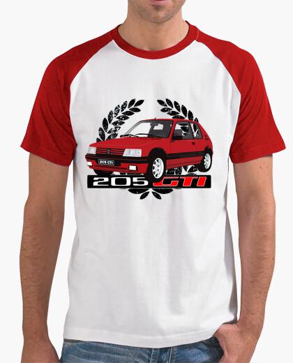 Camiseta 205 gti rojo