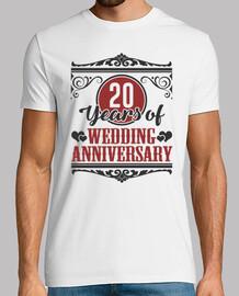 20 ans d'anniversaire de mariage