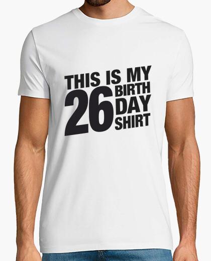 Camiseta 26 Birthday