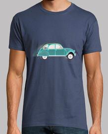 2cv verde azul // camiseta de hombre / azul oscuro