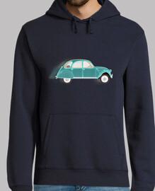 2cv verde azul // suéter hombre / azul oscuro