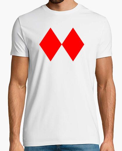 Camiseta 2rombos rojo