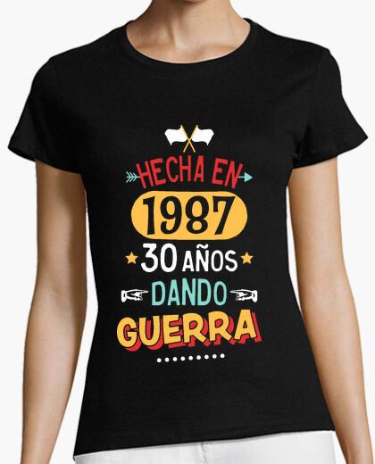 Camiseta 30 años dando guerra. 1987