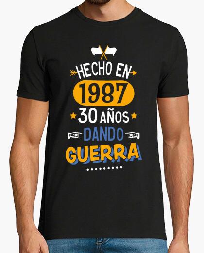 Tee-shirt 30 ans de guerre de fabrication. 1987